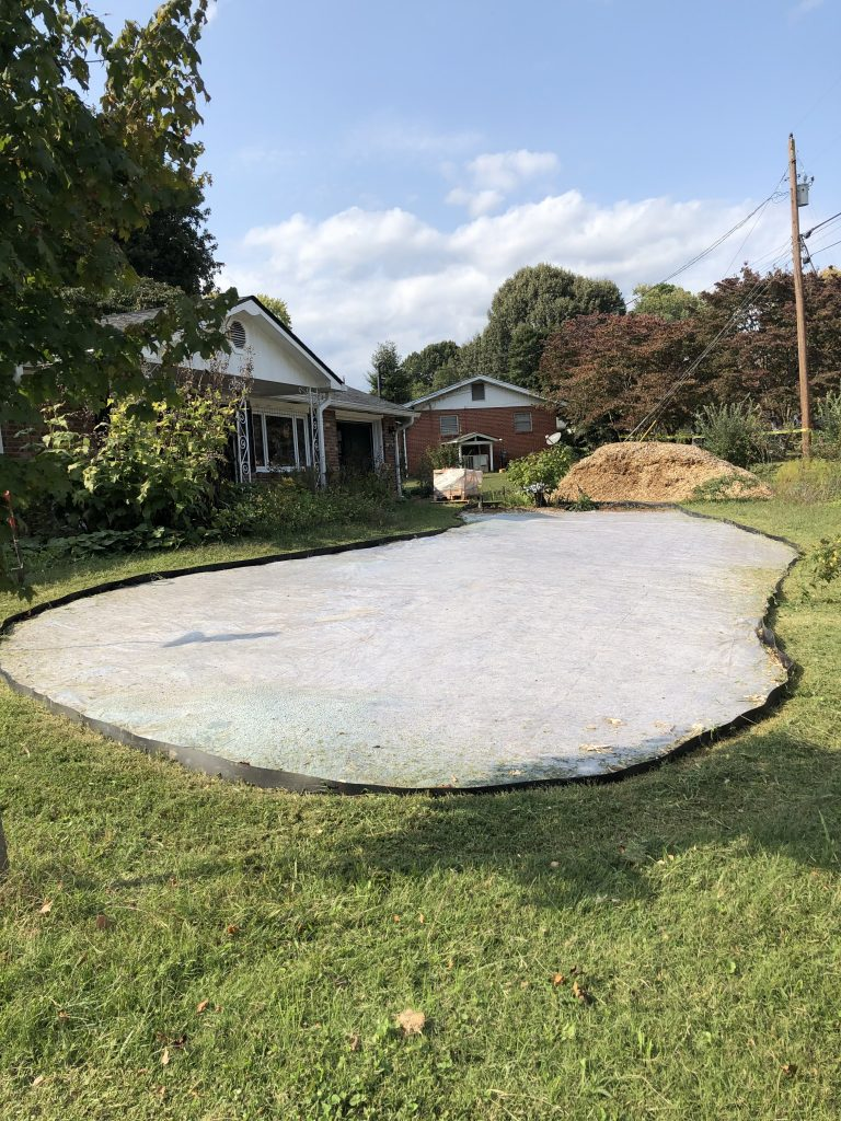 image of solarized garden bed